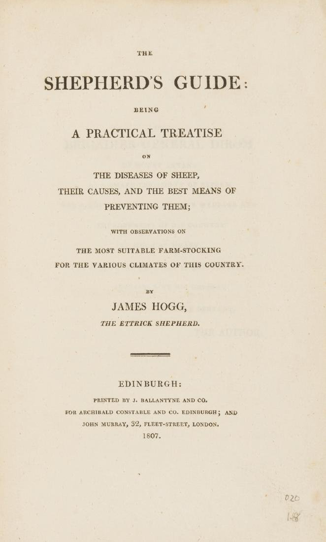 Sheep.- Hogg (James) The Shepherd's Guide, first