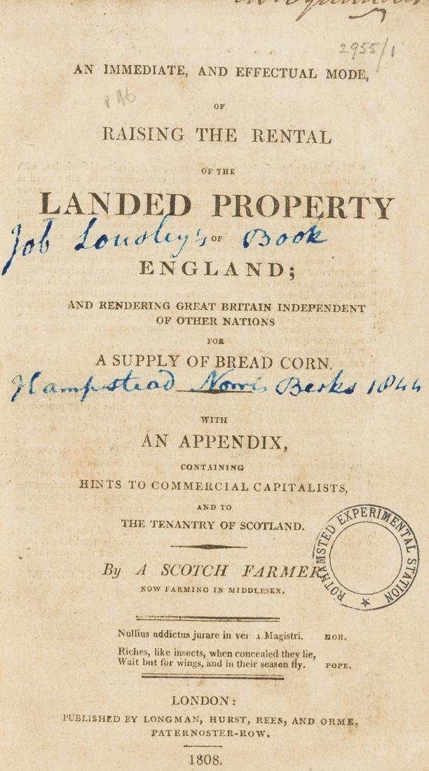 Pamphlets.- [Loudon (John Claudius)] An Immediate and