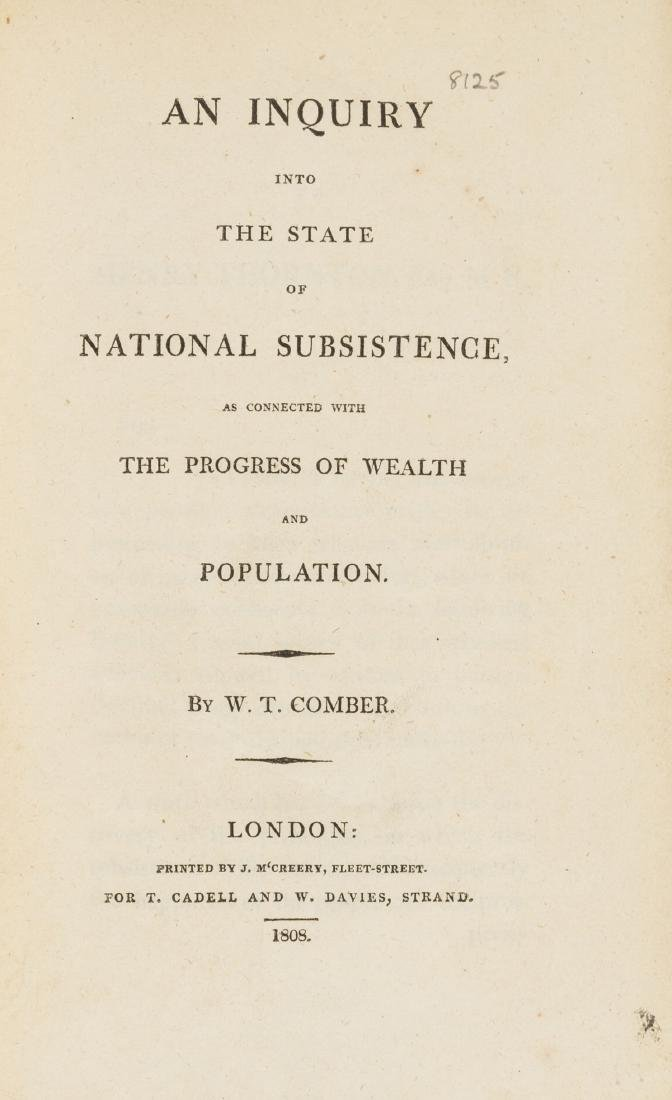 Comber (William Turner) An Inquiry into the State of