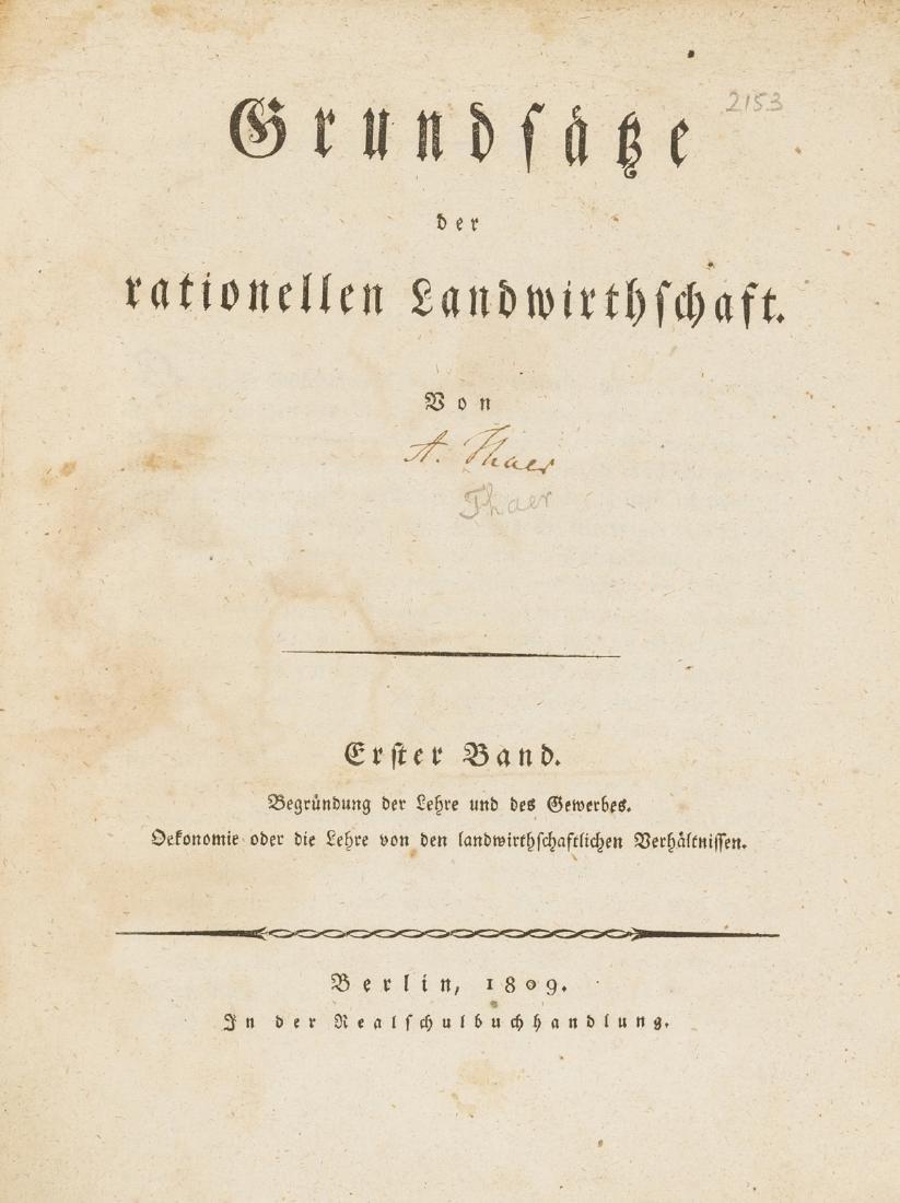 Thaer (Albrecht Daniel) Grundsaetze der rationelle
