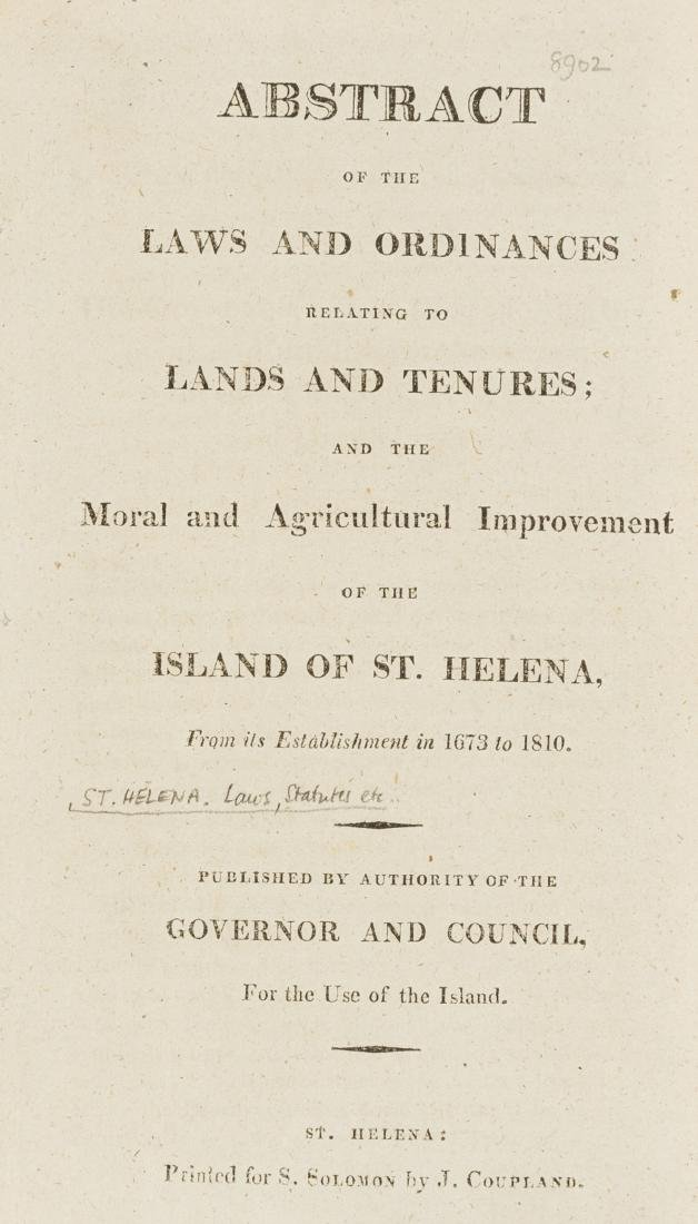 St. Helena.- Abstract of the Laws and Ordinances