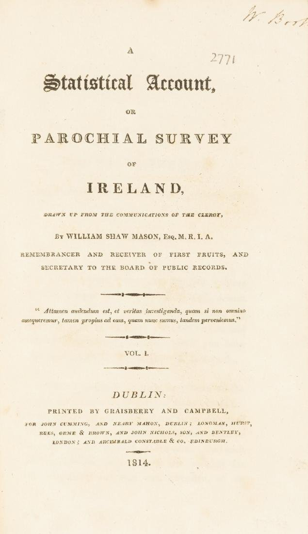 Ireland.- Shaw Mason (William) A Statistical Account or