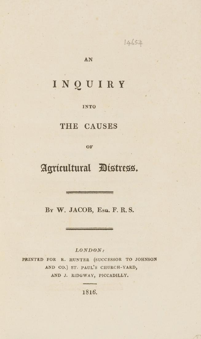 Jacob (William) An Inquiry into the Causes of