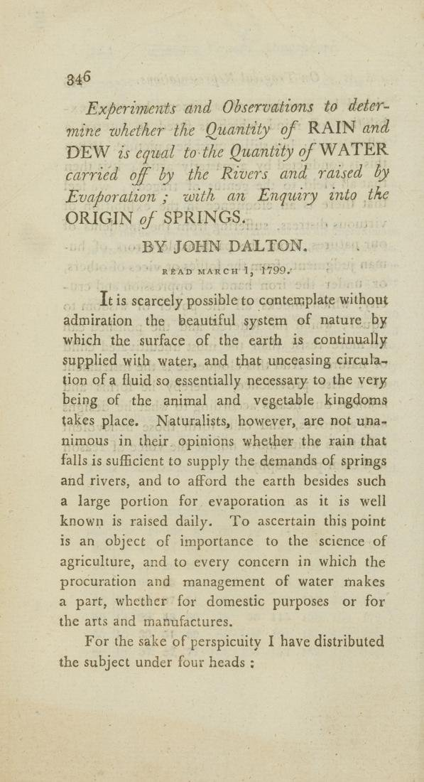 Weather.- Dalton (John) [A collection of seven papers