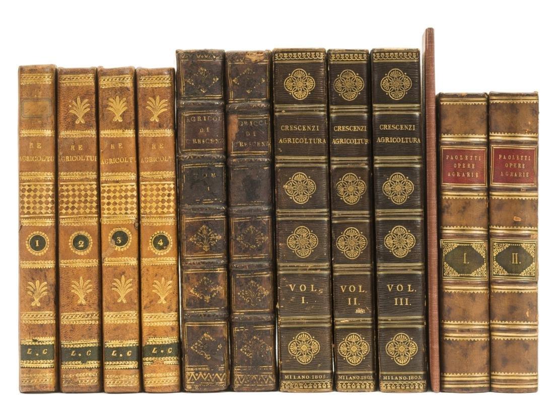 Re (Filippo) Nuovi Elementi di Agricoltura, 4 vol.,