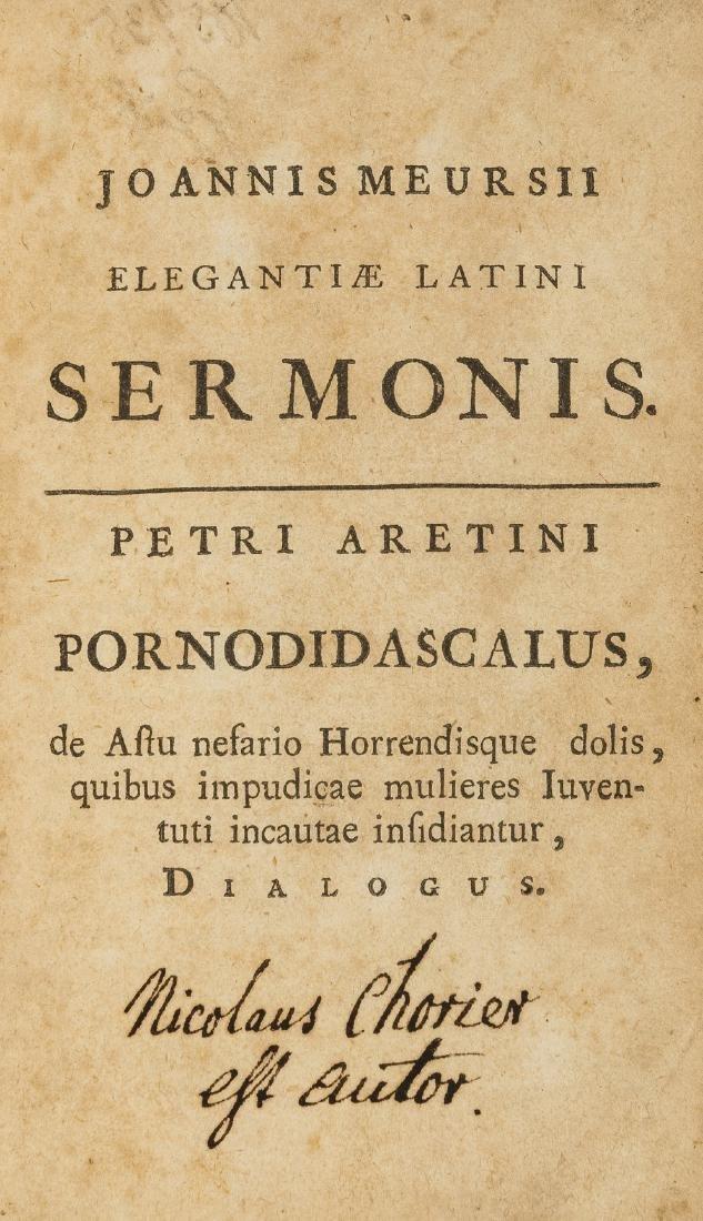 Erotica.- Chorier (Nicolas) Elegantiae latini sermonis.