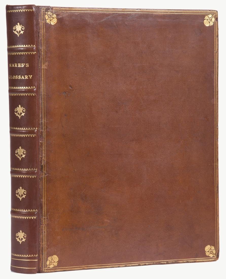 Linguistics.- Nares (Robert) A Glossary; or, Collection