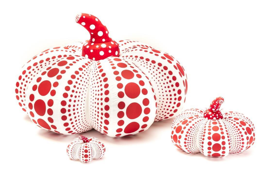 Yayoi Kusama (b.1929)  Soft Pumpkins, Red and White