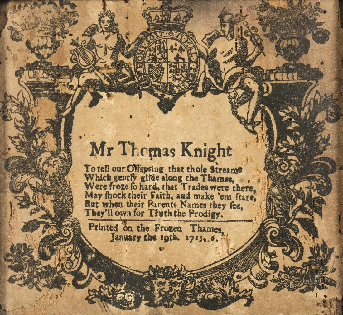 Frost Fair broadside.- Anonymous (active 1715-1716)