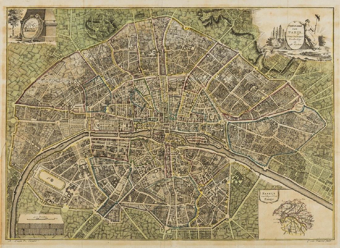 Paris.- Loosjes (Adriaan, publisher) Plattegrond van
