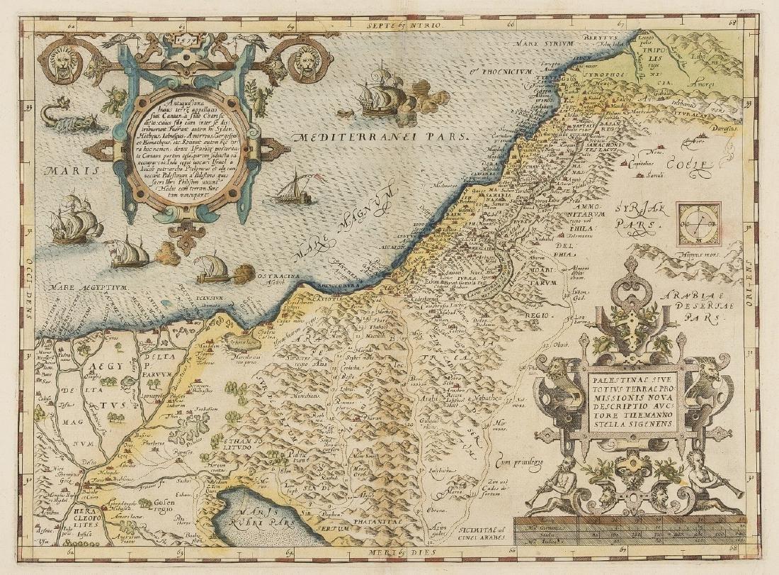 Holy Land.- Palestine.- Ortelius (Abraham) Palestinae
