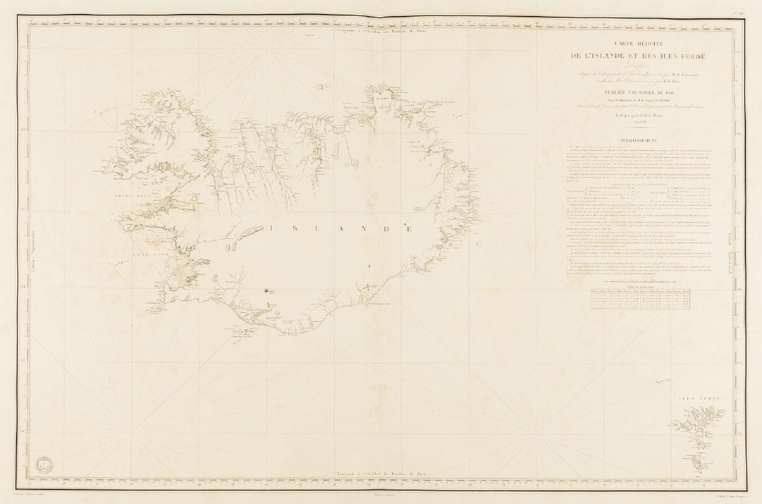 Iceland.- Bellin (Jacques Nicolas) Carte Reduite de