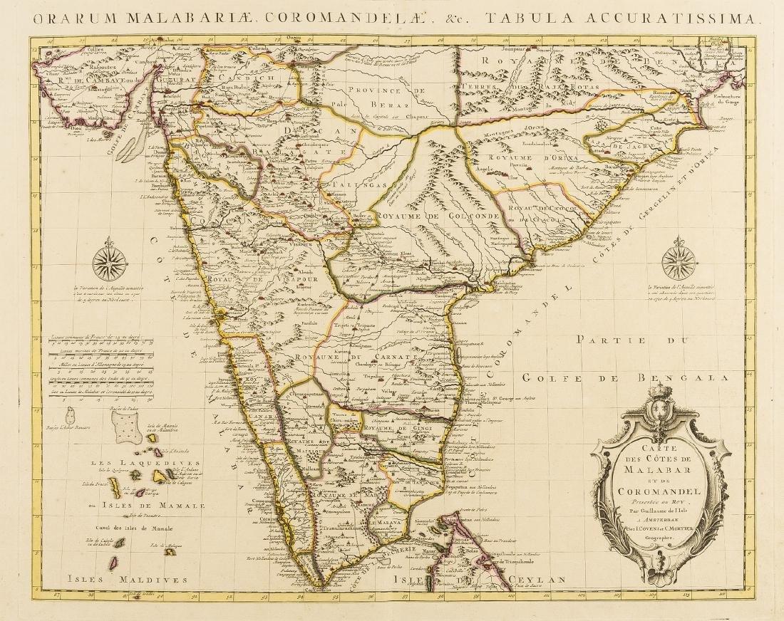 India.- De L'Isle (Guillaume) Carte des Cotes de