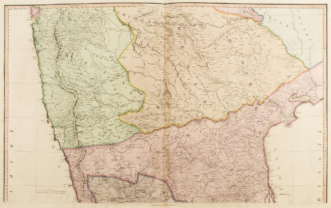 India.- Faden (William) A Map of the Peninsula of India