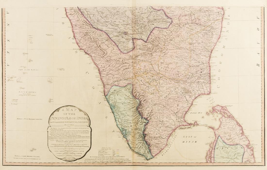 India.- Faden (William) A Map of the Peninsula of India - 2