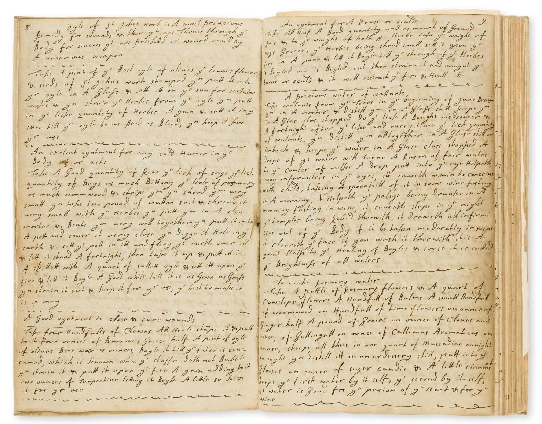 Medical & cookery recipes, manuscript, other manuscript