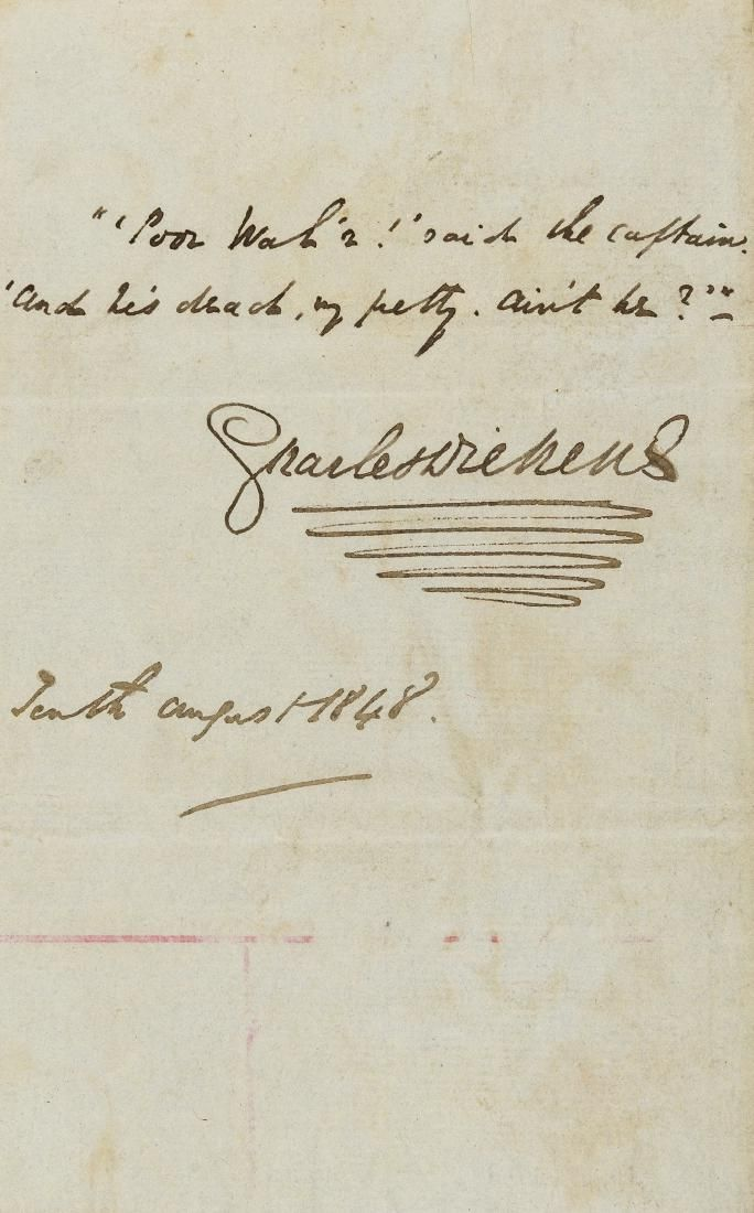 Dickens (Charles) Autograph Letter signed to the Rev.
