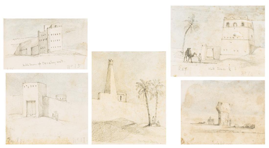 Sahara.- Salvin (E.M.M.) An album of 47 sketches of the