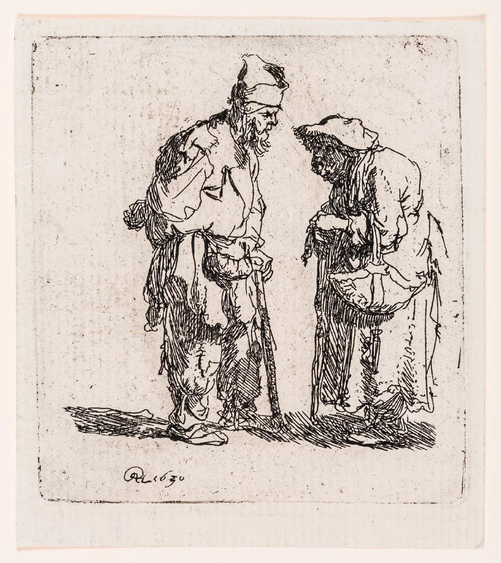 Rembrandt van Rijn (1606-1669)   Beggar Man and Beggar