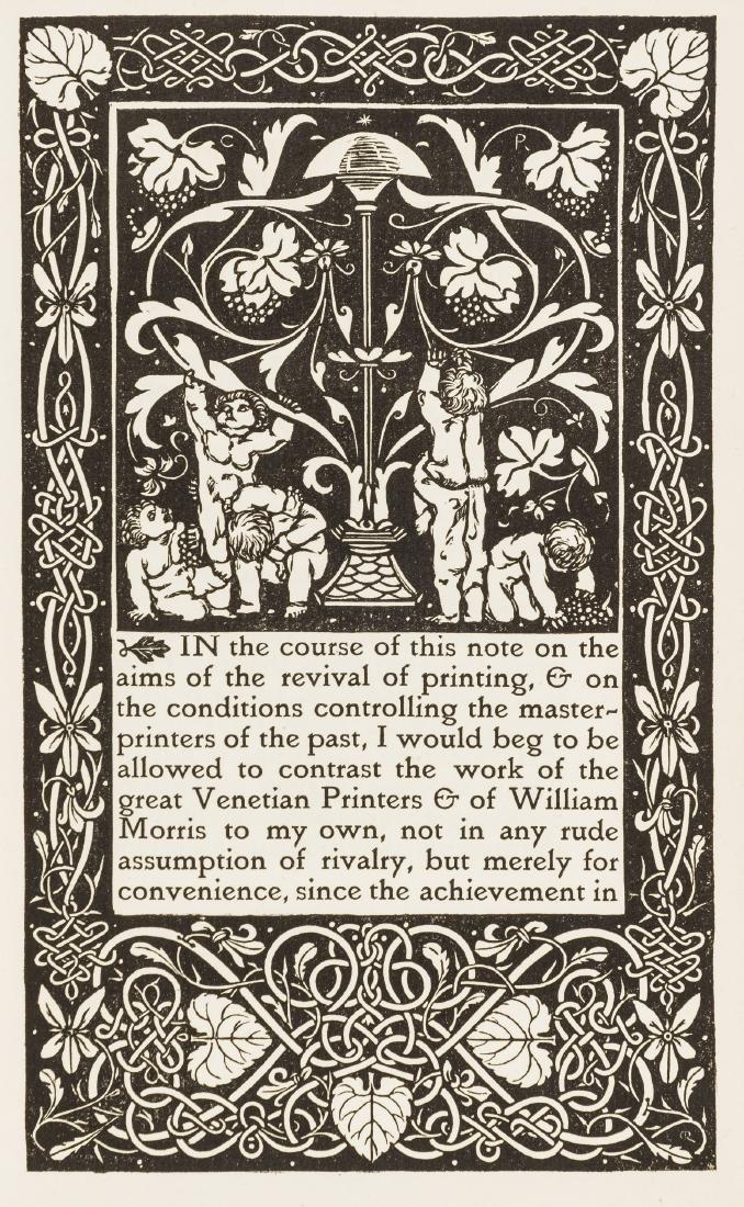 Vale Press.- Ricketts (Charles) & Lucien Pissarro., De