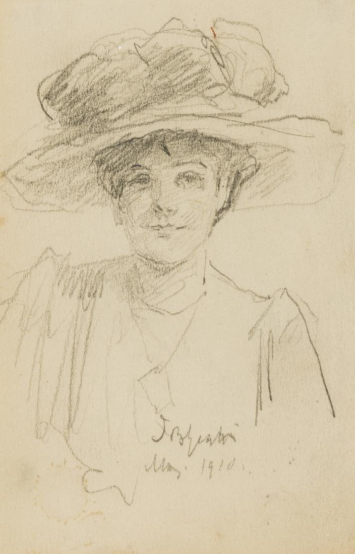 Yeats (John Butler, 1839-1922) Profile portrait of a