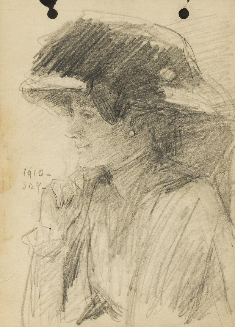 Yeats (John Butler, 1839-1922) Profile portrait of a - 2