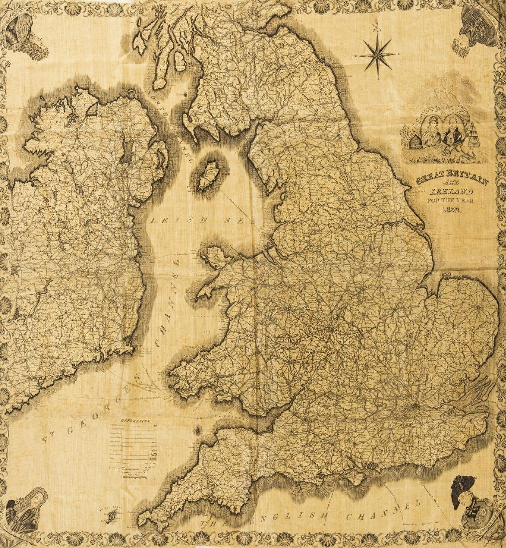 Silk Map.- Great Britain and Ireland for the Year, map