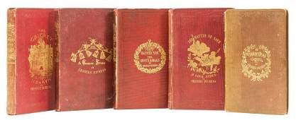 Dickens (Charles) [Christmas books], 5 vol., 1844-48.