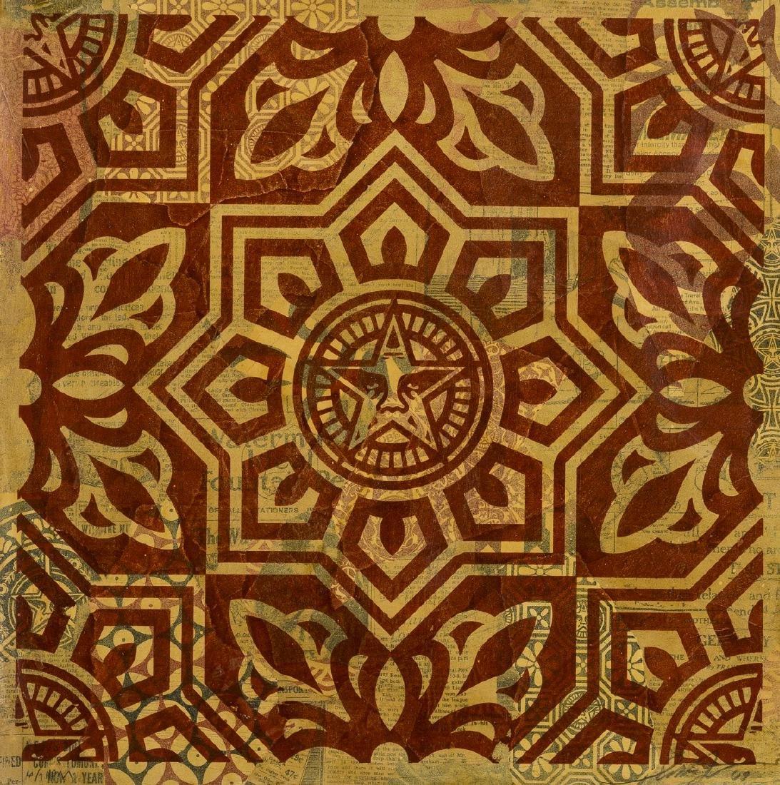 Shepherd Fairey (b. 1970)  Venice Pattern: Red