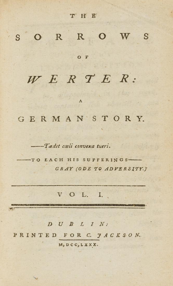 [Goethe (Johann Wolfgang von)] The Sorrows of Werter: A