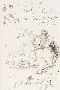 Salvador Dali (1904-1989) Untitled (Messenger