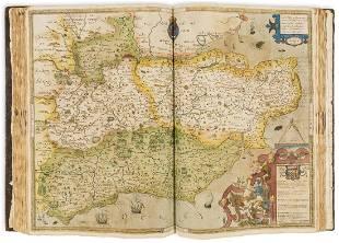 Atlases.- Saxton (Christopher) [An Atlas of England and