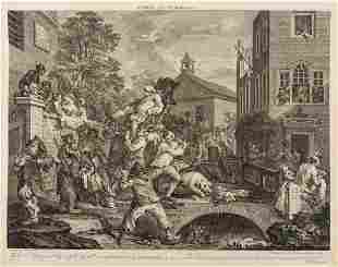 Hogarth (William) A fine collection of 87 etchings and