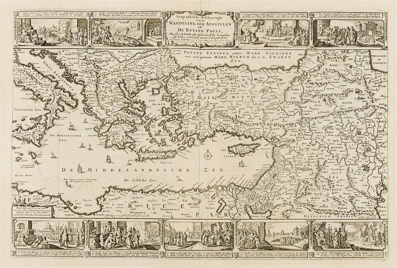 Holy Land - Eastern Mediterranean - Visscher (Nicolas)