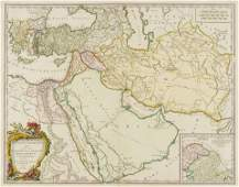 Middle East Vaugondy Gilles Robert de Antiquor