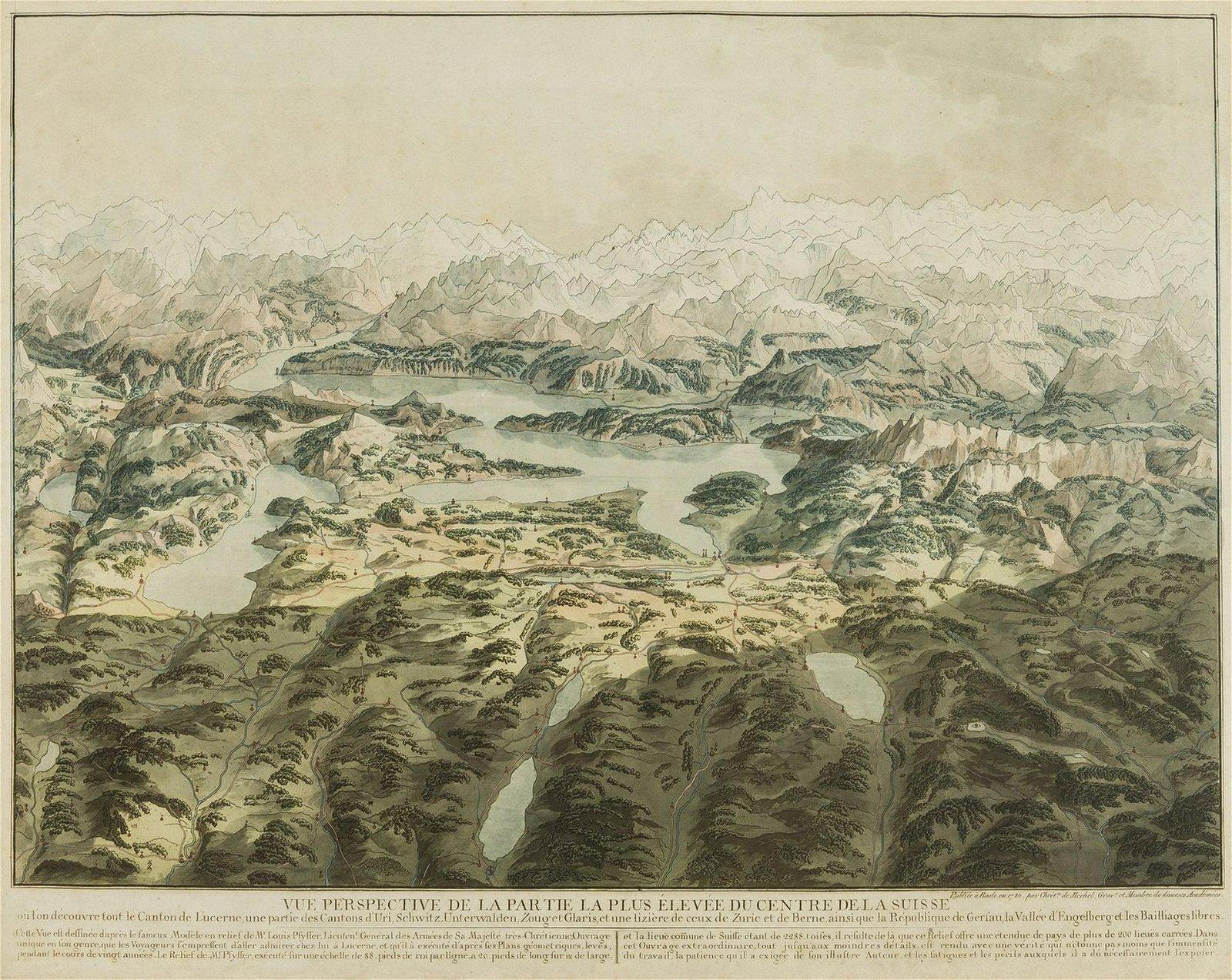 Swiss Alps.- von Mechel (Christian) Vue perspective de