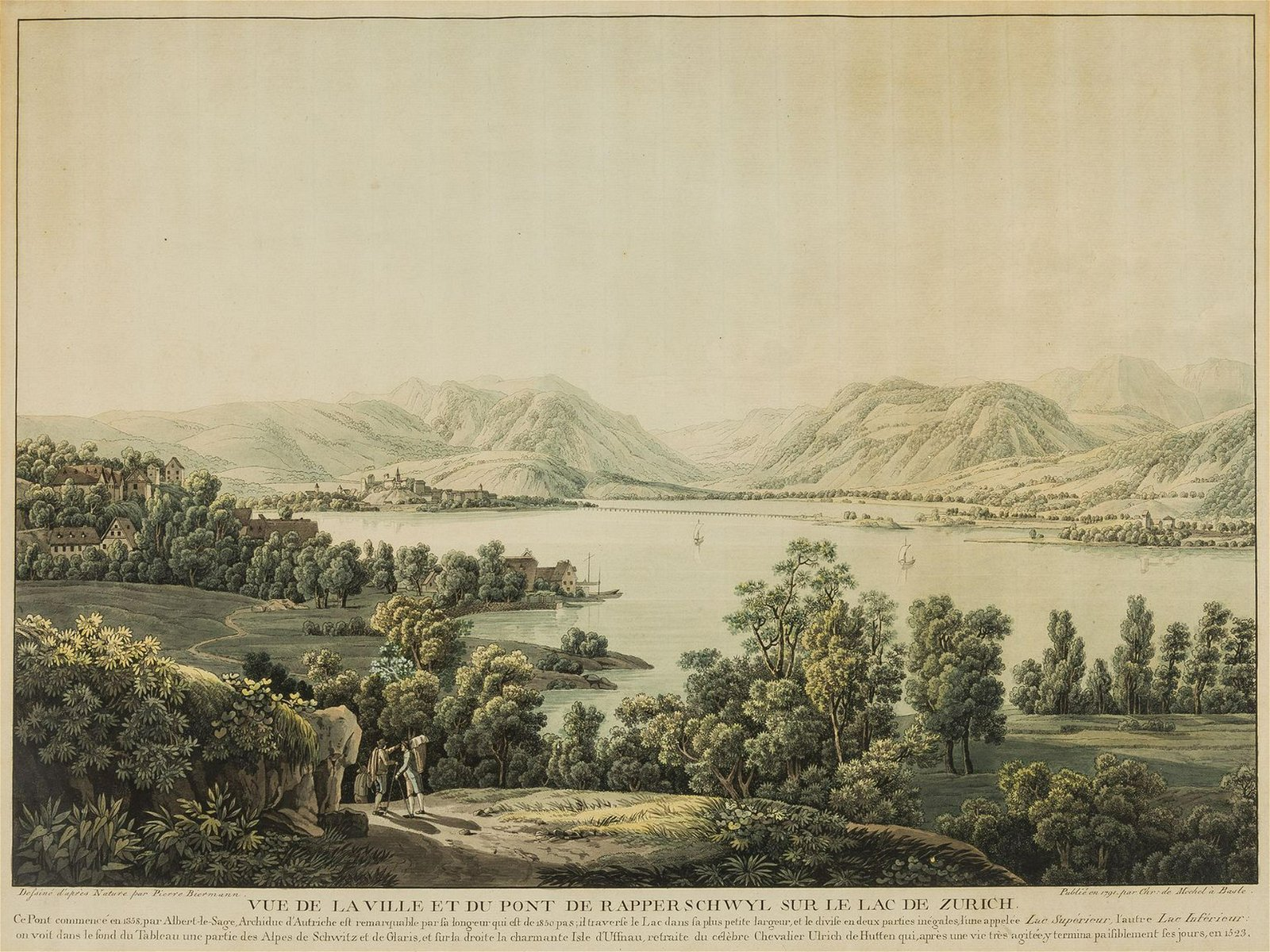Switzerland.- von Mechel (Christian) Vue de la Ville et
