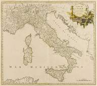 Italy Robert de Vaugondy Gilles publisher Carte de