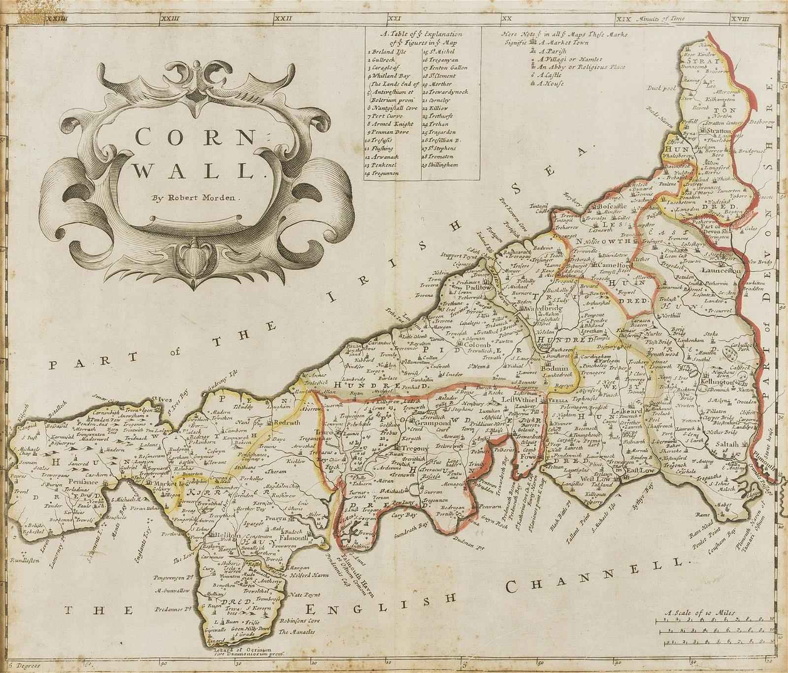 Cornwall.- Morden (Robert) Cornwall, [c. 1695]; and two