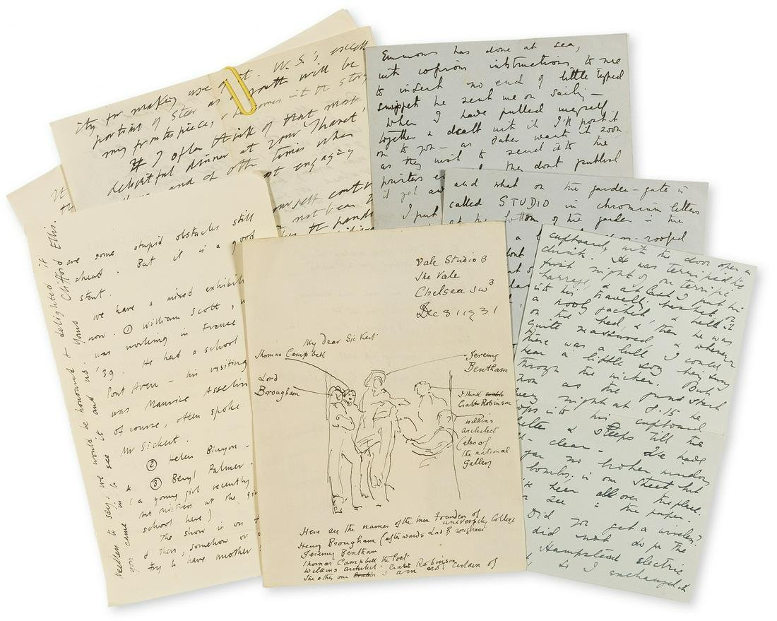 Camden Town Group.- A group of Autograph Letters signed