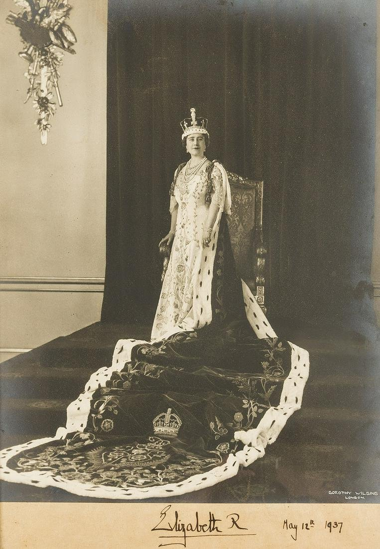 George VI & Queen Elizabeth. 2 Coronation photographs,