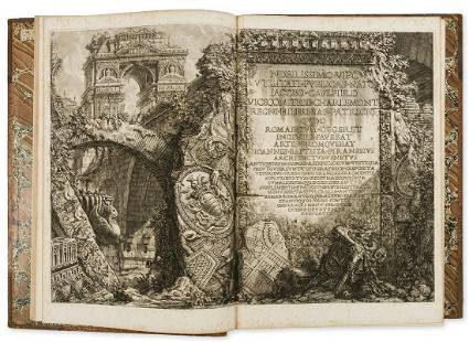 Piranesi (Giovanni Battista) Le Antichità Romane,