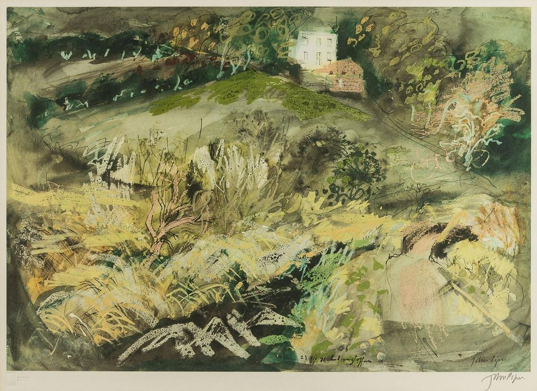 δ John Piper (1903-1992)  Llangloffan (not in