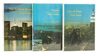 Auster (Paul) [The New York Trilogy], 3 vol., first