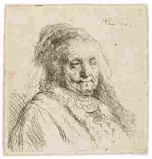 Rembrandt van Rijn (1606-1669) The artist's mother,