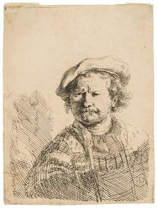 Rembrandt van Rijn (1606-1669) Self-Portrait in a Flat