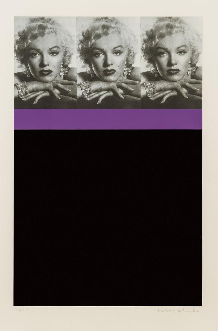 δ Peter Blake (b.1932)  Marilyn Monroe, Black