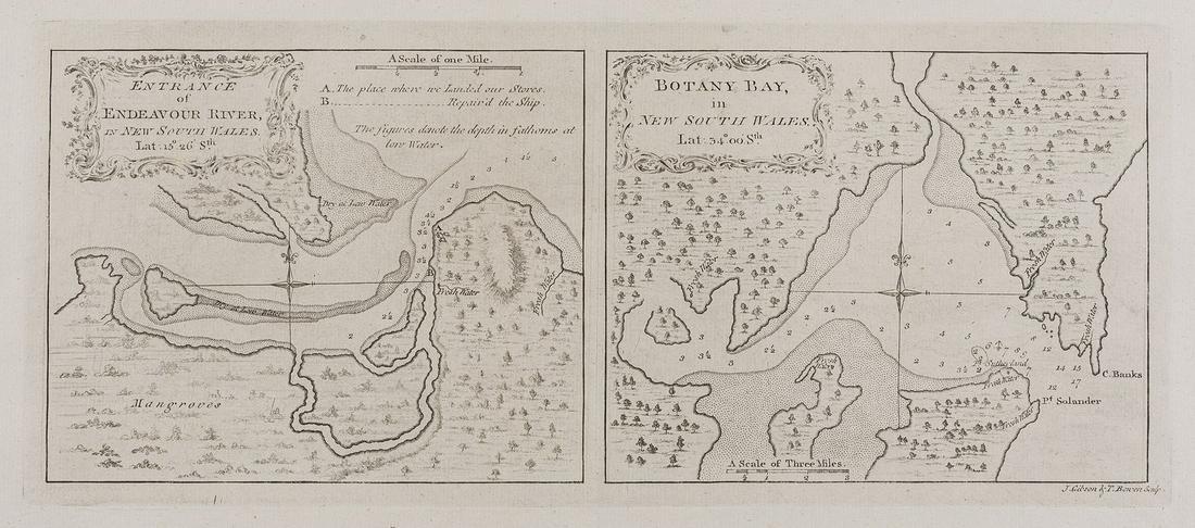 Australia.- Capt. James Cook.- Entrance of Endeavour