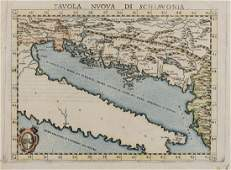 Balkans Adriatic Sea  Ruscelli Girolamo Tavola