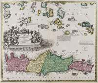 Greece.- Crete.- Homann (Johann Baptist) Insula Creta